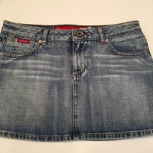 Guess Jeans Womens Mini Skirt Size 27 Blue Jean